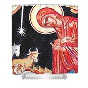 Christmas Icon 2 Shower Curtain
