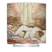 Christmas Illustrations From The Night Before Christmas Shower Curtain