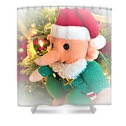 Christmas Imp Toy Shower Curtain