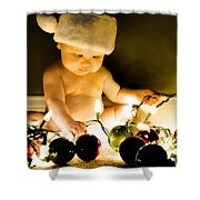 Christmas In A Baby's Eyes Shower Curtain