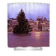 Christmas In Amsterdam The Netherlands Shower Curtain