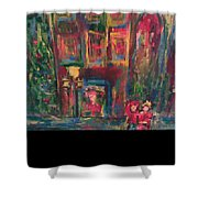 Christmas In Colors Shower Curtain