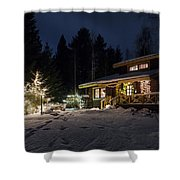 Christmas In Finland Shower Curtain