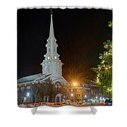 Christmas In Market Square Shower Curtain