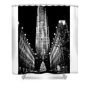 Christmas In New York City Shower Curtain