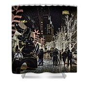 Christmas In Nyc Shower Curtain
