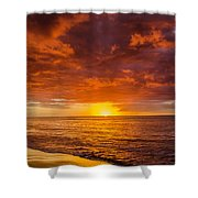 Christmas In Paradise Shower Curtain