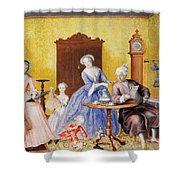 Christmas In The Royal Household Of Empress Maria Theresa Of Austria With Family Shower Curtain
