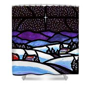 Christmas In The Shenandoah Valey Shower Curtain
