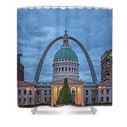 Christmas Jefferson National Expansion Memorial St Louis 7r2_dsc3574_12112017 Shower Curtain