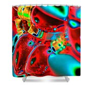 Christmas Lights Festival Shower Curtain
