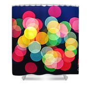 Christmas Lights Abstract Shower Curtain by Elena Elisseeva
