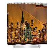 Christmas Lights And Bottles 4197t Shower Curtain