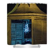Christmas Lights In Gazebo Shower Curtain