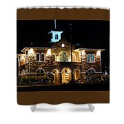Christmas Lights In Sonoma, California Shower Curtain