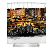 Christmas Market Recklinghausen Shower Curtain