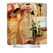 Christmas Mass Shower Curtain