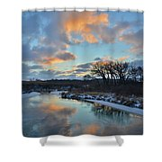 Christmas Morning 2017 In Glacial Park 2 Shower Curtain