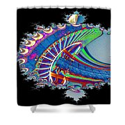 Christmas Needle In Fractal Shower Curtain