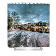 Christmas On Main Street Shower Curtain by Brad Granger