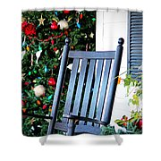 Christmas On The Porch Shower Curtain