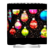 Christmas Ornaments Abstract One Shower Curtain