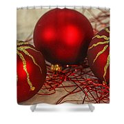 Christmas Ornaments Shower Curtain