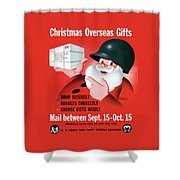 Christmas Overseas Gifts -- Ww2 Shower Curtain