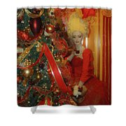 Christmas Parlor Fashions For Evergreens Event Hotel Roanoke 2009 Shower Curtain