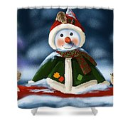 Christmas Party Shower Curtain