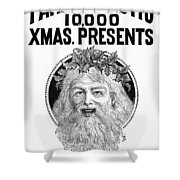 Christmas Present Ad, 1890 Shower Curtain