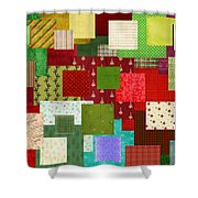 Christmas Quilt Shower Curtain
