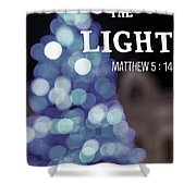 Christmas Quote Shower Curtain