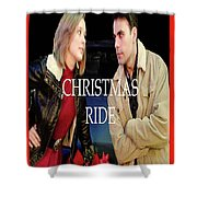 Christmas Ride Poster 16 Shower Curtain