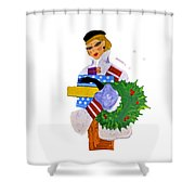 Christmas Shopping - Shop On-line Shower Curtain