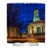 Christmas Small Town Shower Curtain