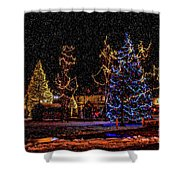 Christmas Snow Storm In Big Bear Shower Curtain
