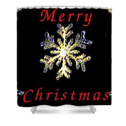 Christmas Snowflakes Shower Curtain