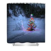 Christmas Spirit At Grouse Creek Shower Curtain