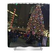 Christmas Spirit Detroit Shower Curtain