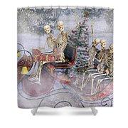 Christmas Spirits Heading To Topsail Island Nc Shower Curtain