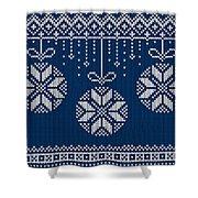 Christmas Sweater Shower Curtain