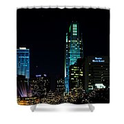 Christmas Time In Omaha Shower Curtain