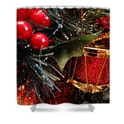 Christmas Time Is Here Shower Curtain