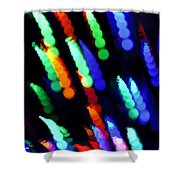 Christmas Time Lights On Tree Shower Curtain