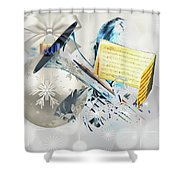 Christmas Time Music Shower Curtain