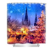 Christmas Town Shower Curtain