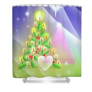 Christmas Tree And Colors Shower Curtain