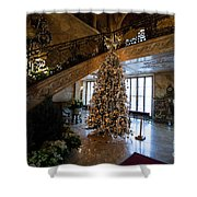 Christmas Tree And Staircase Marble House Newport Rhode Island Shower Curtain