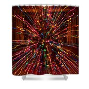 Christmas Tree Colorful Abstract Shower Curtain